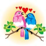 Pájaros del amor Fotos de archivo libres de regalías