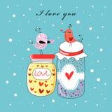 pájaros del amor en las baterías libre illustration
