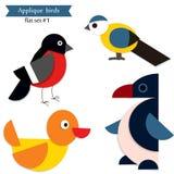 Pájaros del applique de la historieta Imagen de archivo