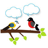 Pájaros del applique de la historieta Foto de archivo libre de regalías
