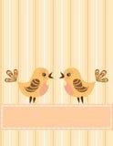 Pájaros del canto. Tarjeta de felicitación. Fotos de archivo libres de regalías