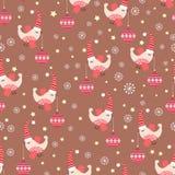 Pájaros del invierno ilustración del vector