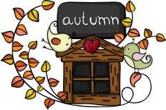 Pájaros del otoño del elemento del diseño stock de ilustración