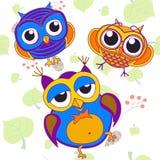 Pájaros del pájaro de las bayas del fondo Ilustración del Vector