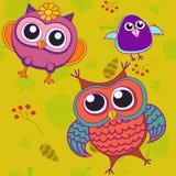 Pájaros del pájaro de las bayas del fondo Stock de ilustración