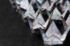 Pájaros del papel de plata Fotografía de archivo