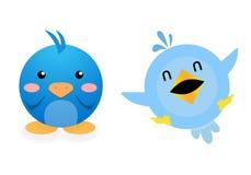 Pájaros divertidos stock de ilustración