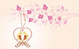 Pájaros en amor. Foto de archivo