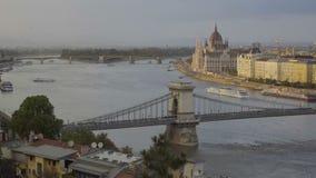Pájaros en Budapest almacen de metraje de vídeo