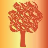 Pájaros en el árbol Stock de ilustración
