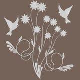 Pájaros en la flor ilustración del vector