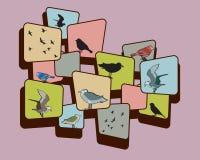 Pájaros en púrpura Fotografía de archivo