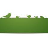 Pájaros en una pared stock de ilustración