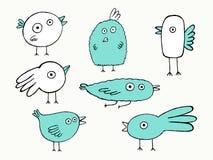 Pájaros fijados Fotografía de archivo libre de regalías