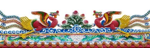 Pájaros gemelos de Phoenix en el tejado Imagen de archivo libre de regalías