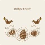 Pájaros lindos con con los huevos ilustración del vector