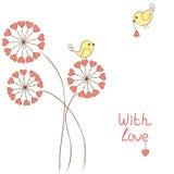Pájaros románticos Foto de archivo libre de regalías