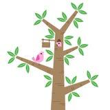 Pájaros y árboles ilustración del vector