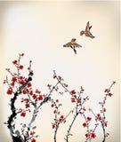 Pájaros y dulce de invierno Imagen de archivo libre de regalías