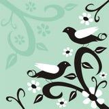 Pájaros y flores Imagen de archivo libre de regalías
