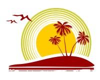Pájaros y palmeras Imagen de archivo libre de regalías