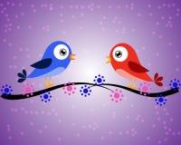Pájaros y puntos Imagen de archivo libre de regalías