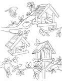 Pájaros y troughts ilustración del vector