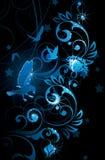 Pájaros y vides azules Foto de archivo libre de regalías