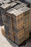Pálete de madeira Fotografia de Stock