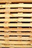 Pálete de madeira detal Imagem de Stock