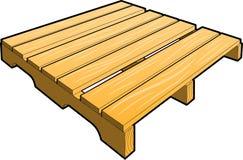 Pálete de madeira do transporte Ilustração do Vetor