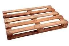 Pálete de madeira em um fundo branco fotografia de stock royalty free