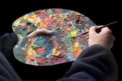 Pálete dos pintores Fotos de Stock Royalty Free