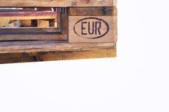 Pálete européia imagens de stock
