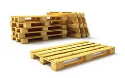 Páletes de madeira Foto de Stock