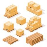 Páletes e caixas Fotografia de Stock