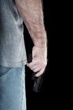 Pálido con el arma Fotografía de archivo