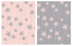 Pálido - rosa y Gray Tropical Design para la materia textil, tarjeta, papel de embalaje, Aloha Party Decoration ilustración del vector