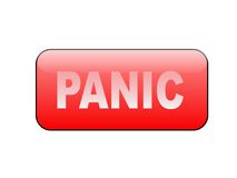Pánico del botón Imagen de archivo libre de regalías