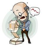Pánico en informe de venta. stock de ilustración