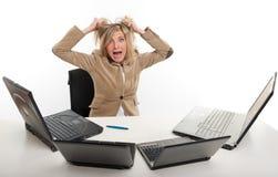 Pánico en la oficina imagen de archivo