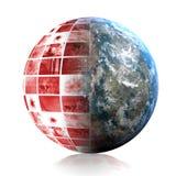 Pánico global ilustración del vector
