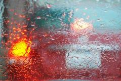 Pára-brisa do dia chuvoso Imagens de Stock