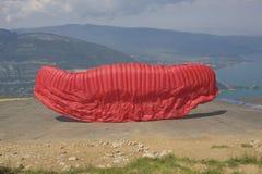 Pára-quedas do Paragliding Fotos de Stock