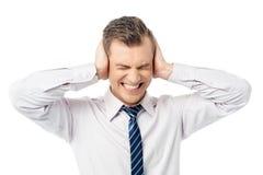 ¡Párelo por favor, yo no desean oír! Foto de archivo libre de regalías