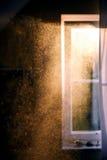 Párticulas de polvo en el aire foto de archivo