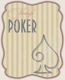Pás do cartão do pôquer do vintage Fotografia de Stock