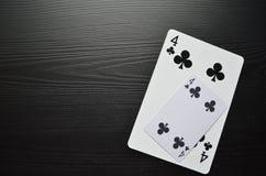 Pás reais do flash do casino dos cartões de jogo poker jogo imagem de stock