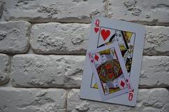 Pás reais do flash do casino dos cartões de jogo poker jogo fotografia de stock royalty free