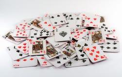 Pás reais do flash do casino dos cartões de jogo Foto de Stock Royalty Free
